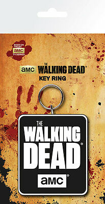 THE WALKING DEAD Logo Key Ring NEW CARDED BAGGED Official Merchandise