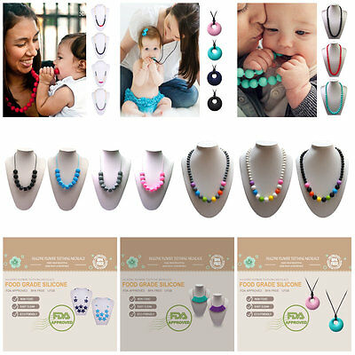 Food-Grade BPA-Free Teether Toys Teething Necklace Teether Jewelry Silicone Hot