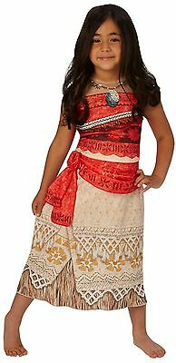 Girls Disney Moana Hawaiian Polynesian Film Fancy Dress Costume Outfit 3-8 years