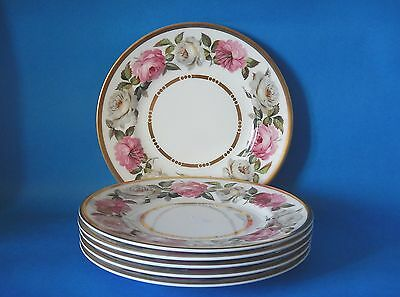 SIX ROYAL WORCESTER ROYAL GARDEN 155mm PLATES - GREAT CONDITION