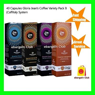 40 Capsules Gloria Jeans Variety Pack B Mix Capusules Pod Caffitaly System eBC