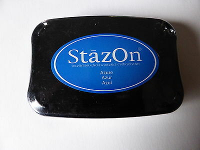 *NEW* Tsukineko STAZON Full Size Permanent Solvent Ink Pad 'AZURE BLUE'
