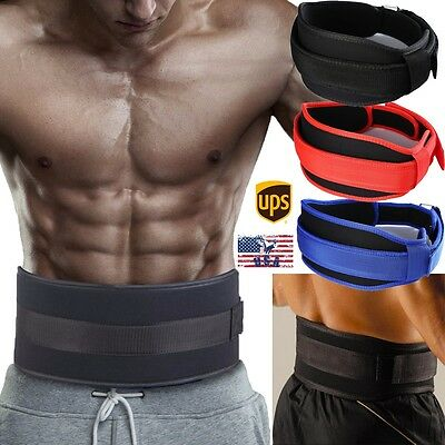 "Weight Lifting Belt Back Support Gym Training Belt 5"" Wide Powerlifting Exercise"