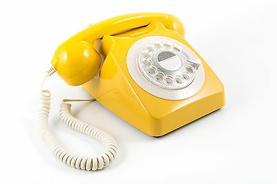 GPO Retro Rotary Dial Telephone - Available in 8 Colours - Mustard Yellow