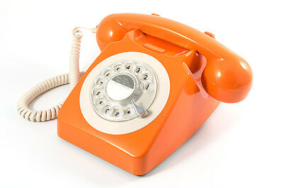 GPO Retro Rotary Dial Telephone - Available in 8 Colours - Orange