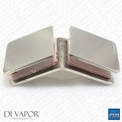 135 Degree Glass Clamp Brackets for Balustrade or Shower | Stainless Steel | 8mm