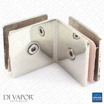 Di Vapor 90 Degree Stainless Steel Glass to Glass Corner Clamp Bracket for Heavy