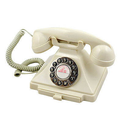 GPO Retro Carrington Push Button Dial Telephone - Available in 4 Colours - Ivory