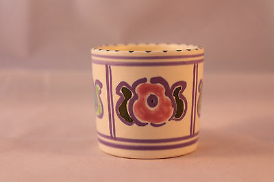HONITON POTTERY EGG CUP HAND PAINTED ON CREAM GROUND 1956c + FLORAL VERY NICE