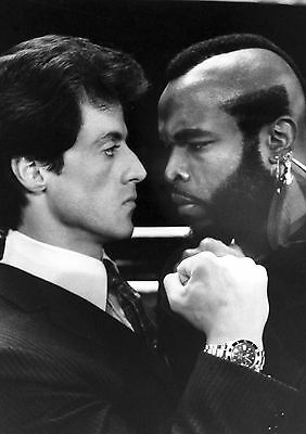 Sylvester Stallone And Mr T 02 (Rocky Iii) Cast Photo Print