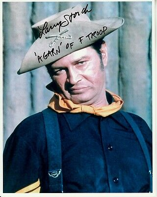 LARRY STORCH hand-signed F-TROOP 8x10 authentic w/ coa FUNNY AGARN COLOR CLOSEUP