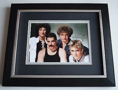 Roger Taylor SIGNED 10x8 FRAMED Photo Autograph Display Queen Music AFTAL COA