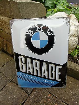 Official BMW GARAGE Embossed Wall Sign Motorcycles & Cars - Made in Germany