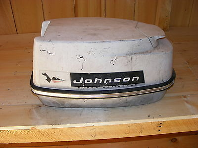 AJ1C3527 Johnson Electric 33 HP Super Seahorse Outboard Cowl Engine Cover Hood