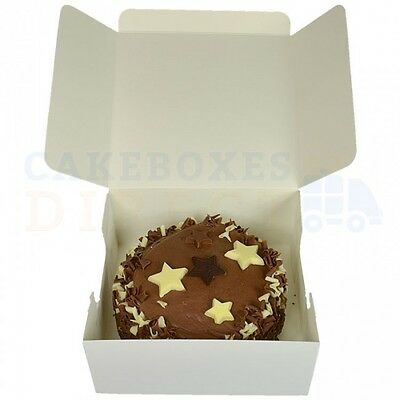 50  x POP UP CAKE BOXES - CHOOSE YOUR SIZE