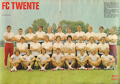 Poster Fc Twente Enschede 1972 (Comes From Dutch Comic Magazine Pep)