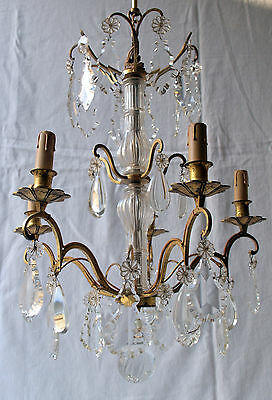 Imposing Antique French Bronze 3 Tier 5 Arm Chandelier. Early 20th Century