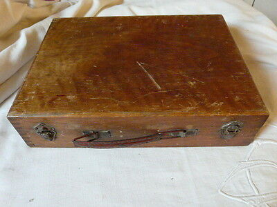 Antique French  Artists Paint wooden Box