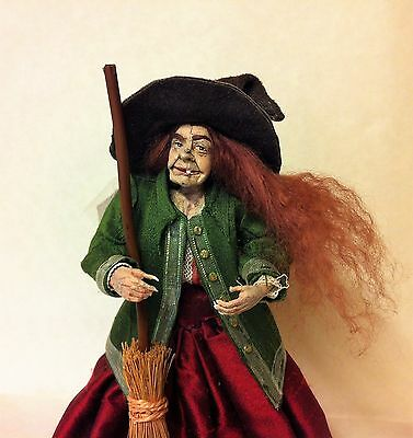 D/house Miniature Rare MARCIA BACKSTROM Witch 1/12th  - Resell OOAK