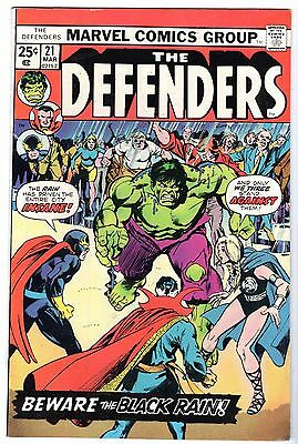 Defenders #21, Very Fine - Near Mint Condition.