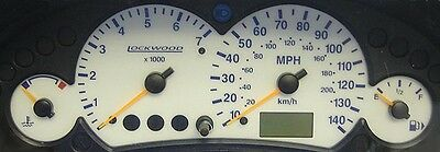 Ford Focus Mk1 (Early) Petrol White Dials with Blue night time illumination