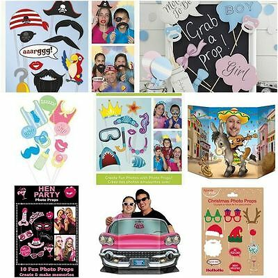 Photo Booth Props Wedding Birthday Baby shower Games Selfie Christmas Halloween