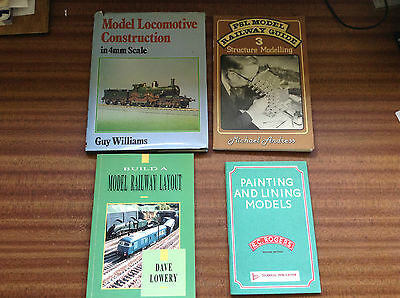 Model railway & engine construction building layout & painting books for Hornby