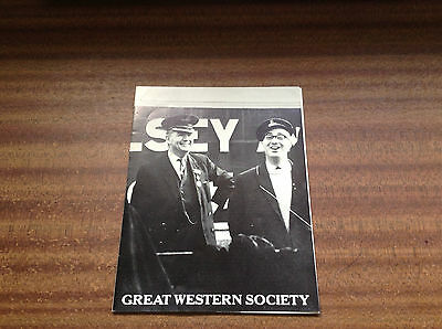 Great Western Society Advert and Membership Application Form Railway Steam train