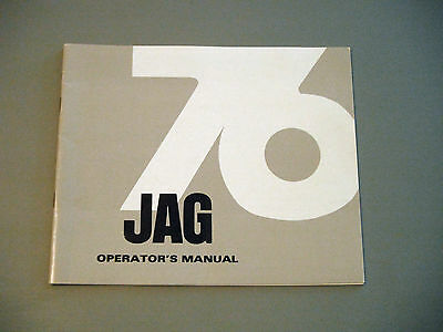 1976 Vintage Arctic Cat Jag Snowmobile Owner's / Operator's Manual