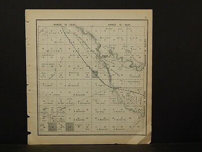 California, Fresno County Map 1891, Shelbyville, Township 13 Double Sided !K2#43