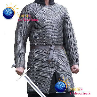 Chainmail Shirt Armour Large 10 Mm Flat Riv W Washer Medieval Haubergeon