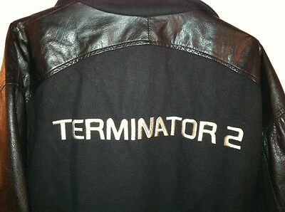 Butler Brand TERMINATOR 2 Black Leather & Wool Jacket Size XL