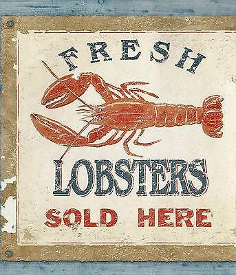 Canada$ - Fishing Boat - Lobster Sign - 60 feet ONLY $16 - Wallpaper Border A066