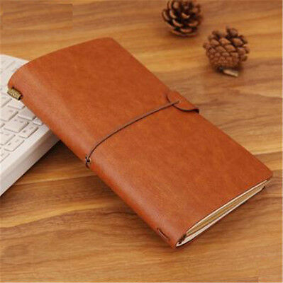 Classic Retro Journal Travel Notepad Notebook Blank Diary Brown Cover Memo Gift