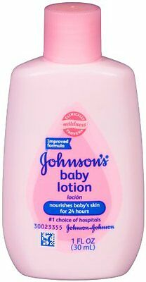 3 Pack Johnson's Baby Lotion Travel Size 1oz Each