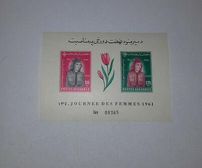 Afghanistan Journee Des Femmes Women's Day Scout 1961 Minisheet 2 Imperforated