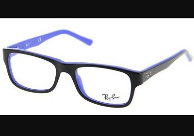 Ray-ban Black On Blue Glasses Rx5268 5179 Reading Frames Rb With Case