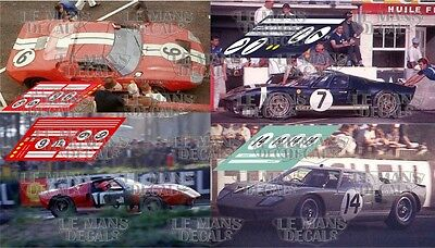 Calcas Ford GT40 Le Mans 1965 6 7 14 1:32 1:24 1:43 1:18 slot decals