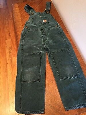 Child's Carhartt Forest Green Overalls Size 8
