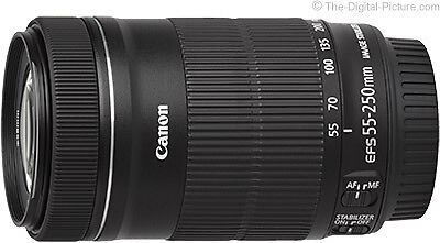 Canon EF-S 55-250mm f/4-5.6 IS STM Lens (White Box)