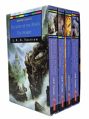 Lord Of The Rings & The Hobbit Box Set - 4 Books - J R R Tolkien - Ted Smart