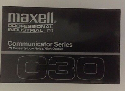 Maxell Communicator Series, C30 Cassette Tapes, Lot of 4