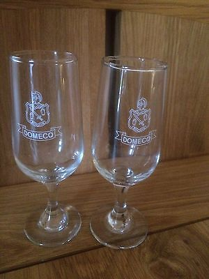 Rare item-Pair of Domecq Sherry Stemmed Glasses