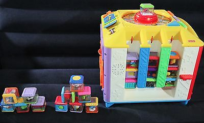 Fisher Price Incrediblock Activity Center With 24 Peek A Blocks -Works