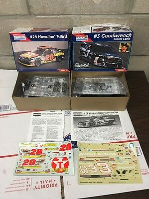2 Monogram 3 Earnhardt Goodwrench Monte Carlo & 28 Havoline T-Bird