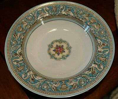 """Wedgwood FLORENTINE TURQUOISE Rimmed Soup Bowl 8"""" mint (multiple available)"""