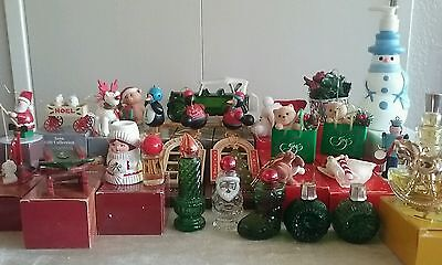 Vintage Avon Perfume Bottles & Christmas Ornaments Collection Huge Lot