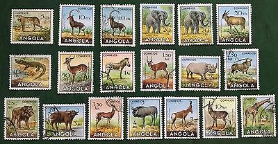 ANGOLA  1953  Fauna of the region, Lot 19 stamps mix condition (see scan)