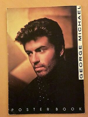 RARE 1990 George Michael Poster Book 8 Tear Out Pages 16.75'' x 11.5'' *FREE P&P