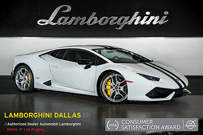 2015 Lamborghini Huracan LP610-4 Coupe 2-Door FACTORY CERTIFIED!+DYNAMIC STEERING+FACTORY RACE  EXHAUST+NAVIGATION+STRIPE KIT